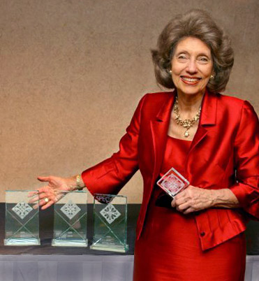 Evelyn Clothier with her Awards