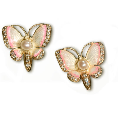baby butterfly earrings clothier jewelry the